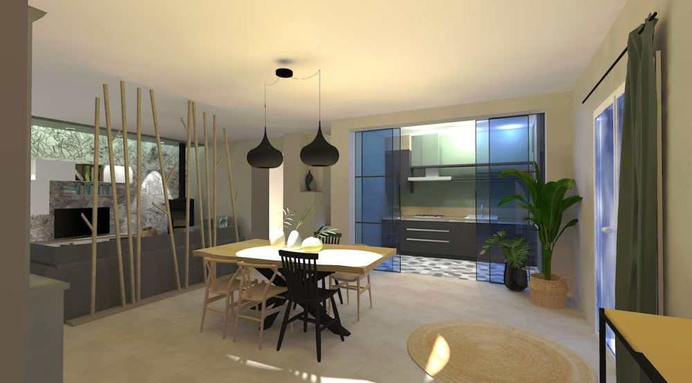 Projet de décoration et d'architecture d'intérieur par home design by line