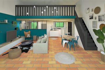 Projet de décoration et architecture d'intérieur dans un style ethnique et bohème par home design by line montpellier