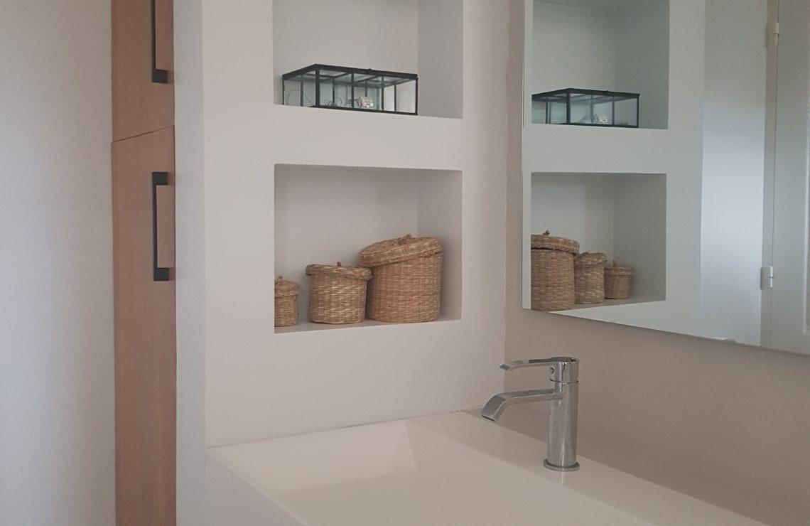 Rénovation et décoration de salle de bain douche à l'italienne